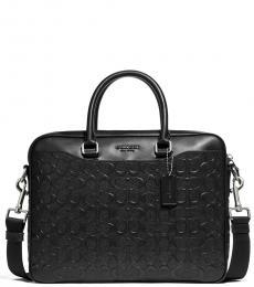Coach Black Beckett Compact Large Briefcase Bag