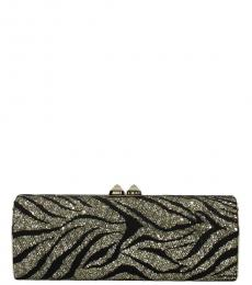 Jimmy Choo Gold Black Celeste Clutch