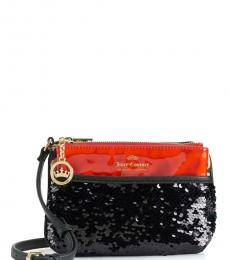 Juicy Couture Red Black Sequin Small Crossbody