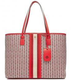 Tory Burch Red Gemini Link Large Tote