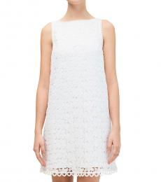 Kate Spade White Leaf Lace Shift Dress