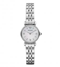 Emporio Armani Silver Mother of Pearl Dial Watch