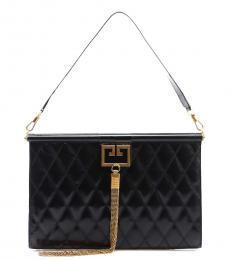 Black Gem Large Shoulder Bag