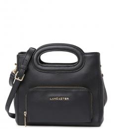 Lancaster Paris Black Mademoiselle Clare Medium Satchel
