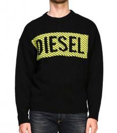 Diesel Black Logo Knitted Sweater