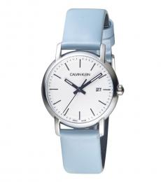 Calvin Klein Blue Established Silver Dial Watch