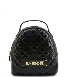 Love Moschino Black Quilted Mini Backpack
