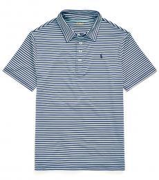 Ralph Lauren Boys Navy Powder Jersey Golf Polo