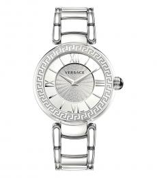 Versace Silver Leda Logo Watch