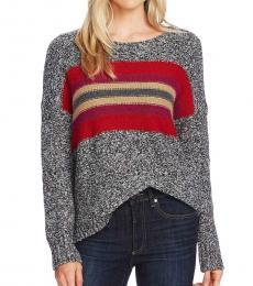 Tulip Red Colorblock Crewneck Sweater