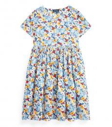 Ralph Lauren Girls Preppy Floral Dress