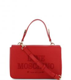Love Moschino Red Top Handle Small Crossbody