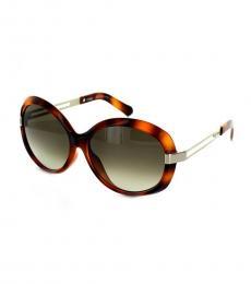 Chloe Havana Oval Sunglasses
