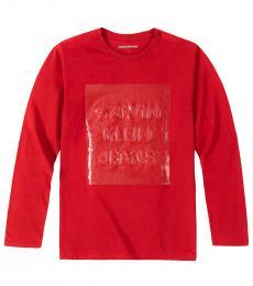 Calvin Klein Little Boys Rumbared Overprint T-Shirt