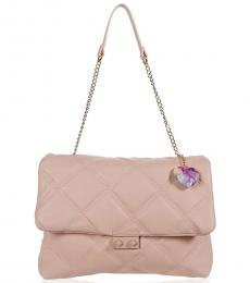 Betsey Johnson Blush Ciara Quilted Large Shoulder Bag