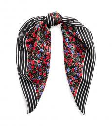 Ralph Lauren Black Multi Elise Silk Scarf