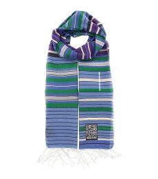 Moschino Blue Stripe Scarf