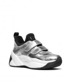 Michael Kors Silver Black Keeley Sneakers