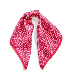 Ralph Lauren Pink Multi Logo-Print Silk Scarf