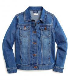 J.Crew Little Girls Pacific Azure Denim Jacket