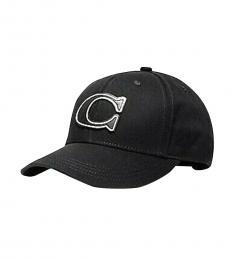 Black Varasity Logo Cap