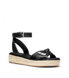 Michael Kors Black Ripley Espadrille Sandals