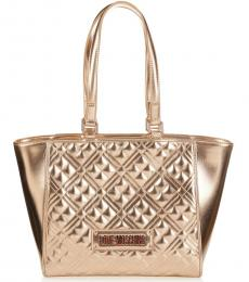 Love Moschino Copper Quilted Large Tote