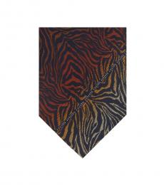 Multi Color Gradient Zebra Print Tie