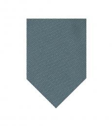 Blue Green Woven Silk Tie