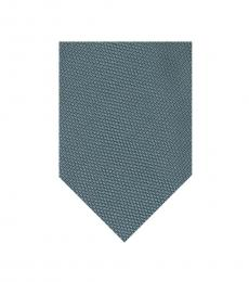 Tom Ford Blue Green Woven Silk Tie