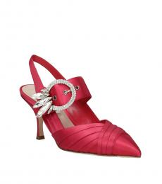 Pink Rhinestone Embellished Heels