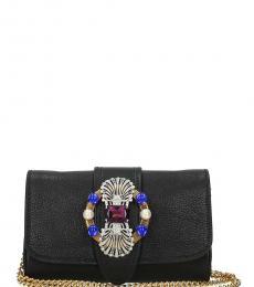 Black Embellished Mini Shoulder Bag