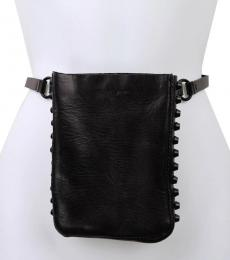 Black Studded Belt Bag