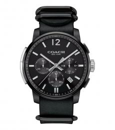 Coach Black Chronograph Bleecker Watch