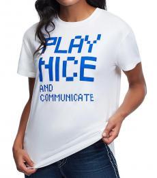 True Religion White Play Nice Dainty T-Shirt