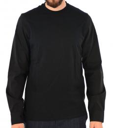Black Stretch Cotton T-Shirt
