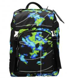 Prada Black Graphic Large Backpack