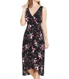 DKNY Black Printed Handkerchief Dress