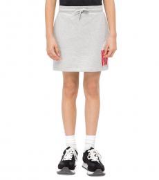 Calvin Klein Girls Grey Popcorn Skirt