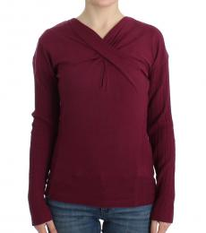 Cavalli Class Cherry Knitted Wool Sweater