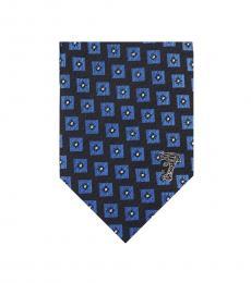 Versace Blue Geometric Tie