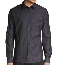 Black Dot-Print Shirt
