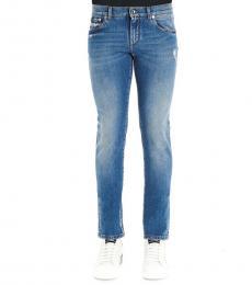 Dolce & Gabbana Light Blue Skinny Fit Jeans