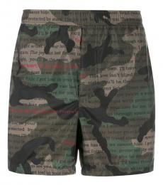 Camo Print Beachwear Shorts