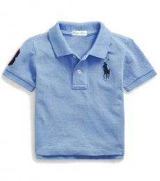 Ralph Lauren Baby Boys Fall Blue Mesh Polo