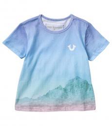 True Religion Little Girls Blue Desert T-Shirt