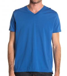 Royal Blue Shoji V-Neck T-Shirt