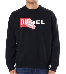 Diesel Black Patched Logo Sweatshirt