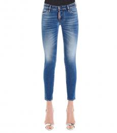 Blue Jennifer Cropped Jeans