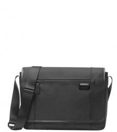 Michael Kors Black Travis Large Messenger Bag